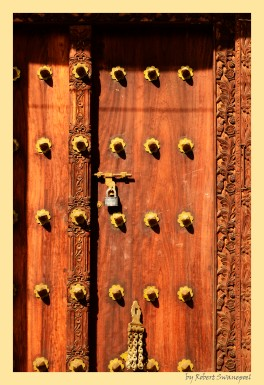 Typical ornate Door in Stone town Zanzibar